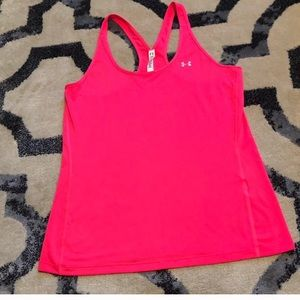 Hot pink under armour tank top size large